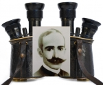 Fernglas gehörte zu Alférez José J. Cros. - Zeiss Marine-Glas mit Revolver 5x-10x, circa 1896