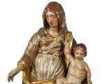 Madonna con Bambino in Legno Policromo, circa 1700