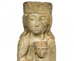 Scultura Madonna con Bambino - Periodo Romanico XI°- XII secolo