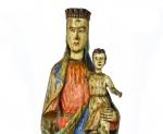 Madonna con Bambino in legno policromo (epoca Gotico), circa 1300
