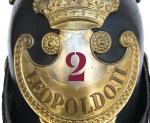 Elmo Guardia Civica Leopoldo II Granducato di Toscana (2 Reggimento), 1848