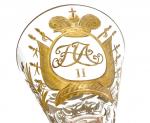 Glass Flute da Cocktail appartenuto al servito personale dello Zar Nicola II Alexsandrovich Romanov, 1913